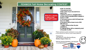 1st Annual FENWICK Fall Home Decorating CONTEST